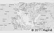 Silver Style Panoramic Map of Ye-Ngan