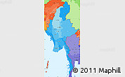 Political Shades Simple Map of Burma