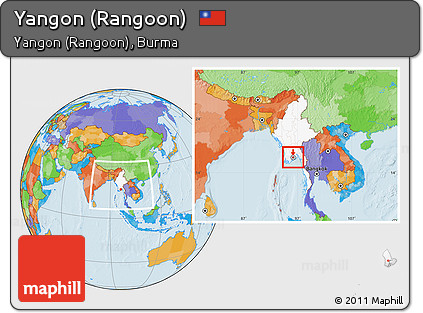 Free political location map of yangon rangoon highlighted country political location map of yangon rangoon highlighted country within the entire country publicscrutiny Image collections