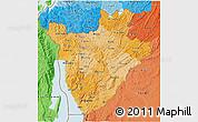 Political Shades 3D Map of Burundi