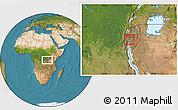 Satellite Location Map of Bubanza
