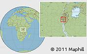 Savanna Style Location Map of Bubanza