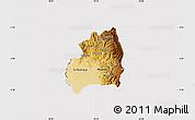 Physical Map of Bubanza, cropped outside