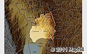 Physical Map of Bubanza, darken