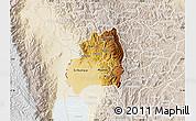 Physical Map of Bubanza, lighten
