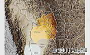 Physical Map of Bubanza, semi-desaturated