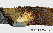 Physical Panoramic Map of Bubanza, darken