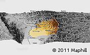 Physical Panoramic Map of Bubanza, desaturated