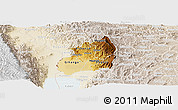 Physical Panoramic Map of Bubanza, lighten