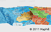 Physical Panoramic Map of Bubanza, political shades outside