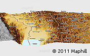 Physical Panoramic Map of Bubanza