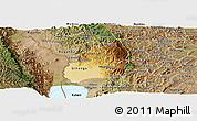 Physical Panoramic Map of Bubanza, satellite outside