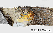 Physical Panoramic Map of Bubanza, semi-desaturated