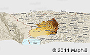 Physical Panoramic Map of Bubanza, shaded relief outside