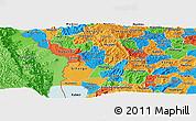 Political Panoramic Map of Bubanza
