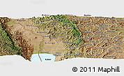 Satellite Panoramic Map of Bubanza
