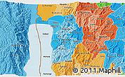 Political Shades 3D Map of Bujumbura