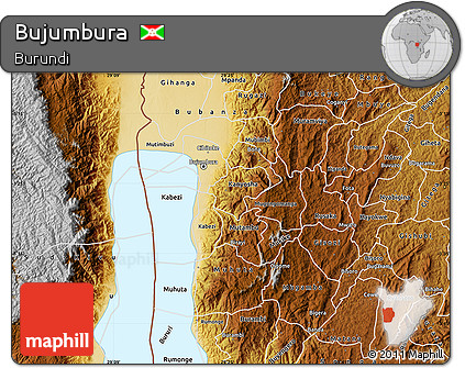 Physical Map of Bujumbura