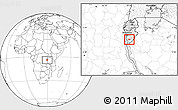 Blank Location Map of Bururi