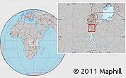 Gray Location Map of Bururi