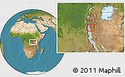 Satellite Location Map of Bururi