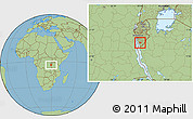 Savanna Style Location Map of Bururi