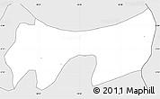 Silver Style Simple Map of Gisagara