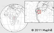 Blank Location Map of Kigamba
