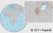 Gray Location Map of Kigamba