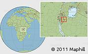 Savanna Style Location Map of Kigamba