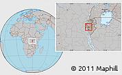 Gray Location Map of Bukinanvana