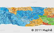Political Shades Panoramic Map of Cibitoke