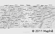 Silver Style Panoramic Map of Gitega