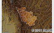 Physical Map of Kayanza, darken