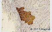 Physical Map of Kayanza, lighten