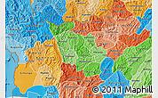 Political Shades Map of Kayanza