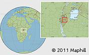 Savanna Style Location Map of Gitobe