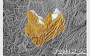 Physical Map of Kirundo, desaturated