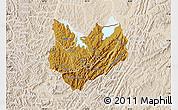 Physical Map of Kirundo, lighten