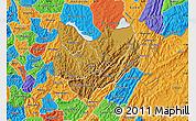 Physical Map of Kirundo, political outside