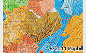 Physical Map of Kirundo, political shades outside