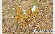 Physical Map of Kirundo, satellite outside