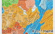 Political Shades Map of Kirundo