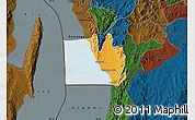 Political Map of Nyanza Lac, darken