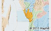 Political Map of Nyanza Lac, lighten