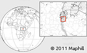 Blank Location Map of Kayokwe