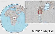 Gray Location Map of Kayokwe