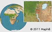 Satellite Location Map of Kayokwe