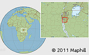 Savanna Style Location Map of Kayokwe