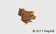 Physical Panoramic Map of Muramviya, cropped outside